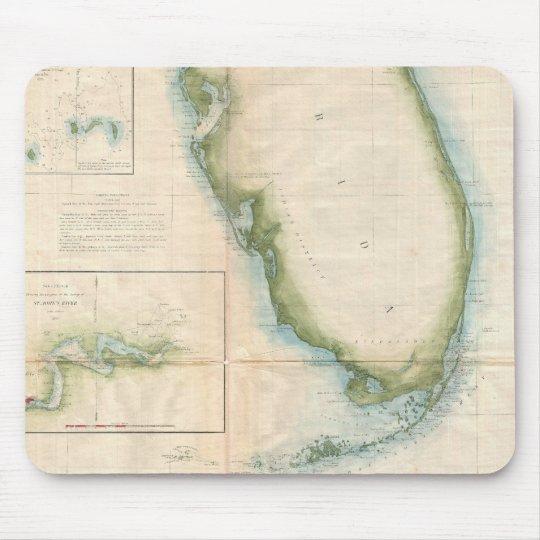 Vintage Florida Map Mouse Pad