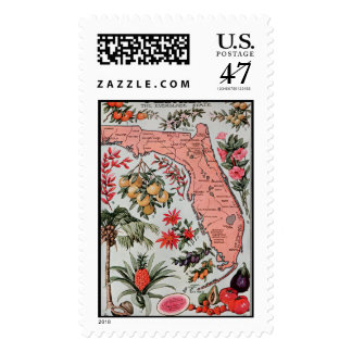 Vintage Florida Map Postage