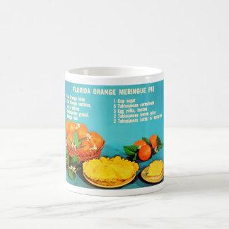 Vintage Florida Orange Meringue Pie Recipe Photo Coffee Mug