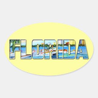 Vintage Florida Oval Sticker