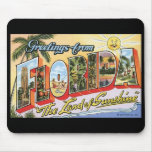 Vintage Florida Postcard Mousepad