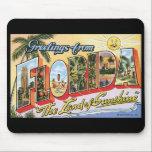 """Vintage Florida Postcard Mousepad<br><div class=""""desc"""">Vintage Florida Postcard Mousepad</div>"""