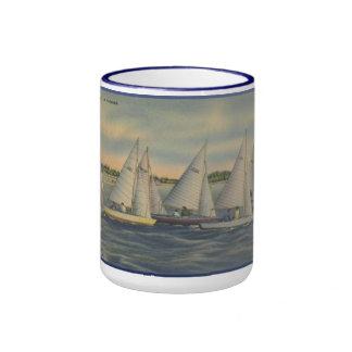 Vintage Florida Sailboat Racing Mug