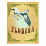 Vintage Florida State Map- Passion Fruit Yellow Postcard