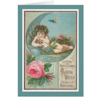 Vintage Florida Water Ad with Cherub 1888 Card