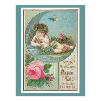 Vintage Florida Water Ad with Cherub 1888 Postcards