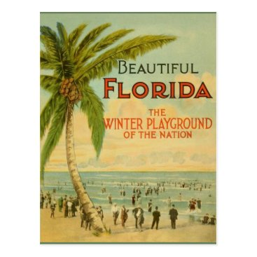 RetroMagicShop Vintage Florida Winter Playground Postcard