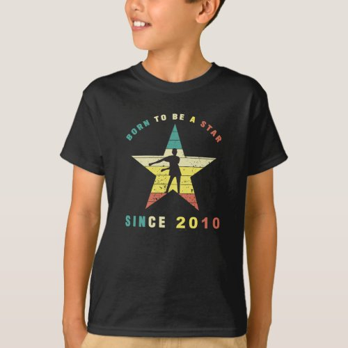 Vintage Floss Dance 10 year old Birthday Gift T_Shirt