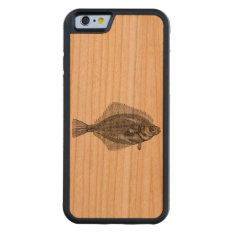 Vintage Flounder Fish Aquatic Customized Template Carved Cherry Iphone 6 Bumper Case at Zazzle