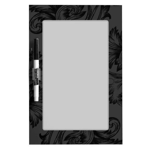 Vintage Flourish (Black) Dry-Erase Whiteboard