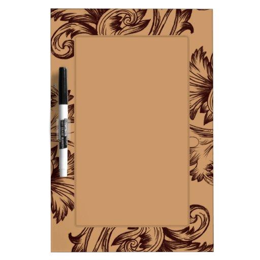 Vintage Flourish (Dark Brown) Dry-Erase Whiteboards