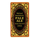 Vintage Flourish Homebrew Beer Labels