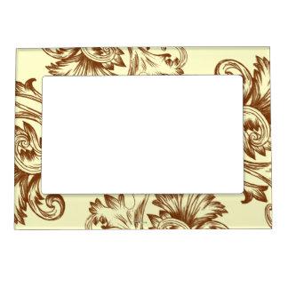 Vintage Flourish (Light Brown) Magnetic Photo Frame