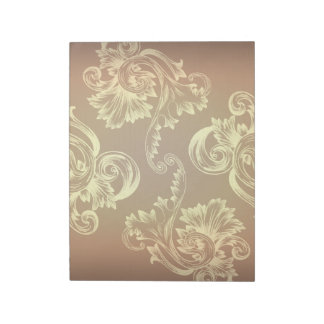 Vintage Flourish (Pale Yellow) Notepad