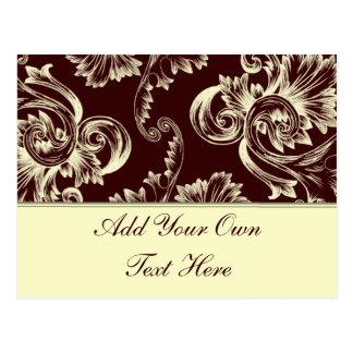 Vintage Flourish (Pale Yellow) Postcard