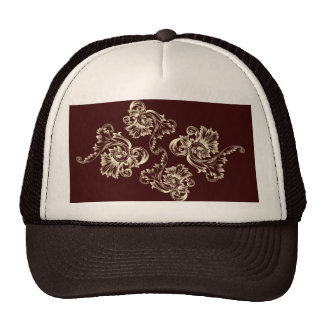 Vintage Flourish (Pale Yellow) Trucker Hat