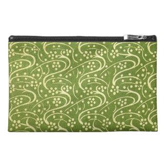 Vintage Flourish Swirls Green Floral Travel Accessories Bags