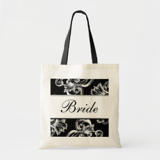 Vintage Flourish (White) Tote Bag