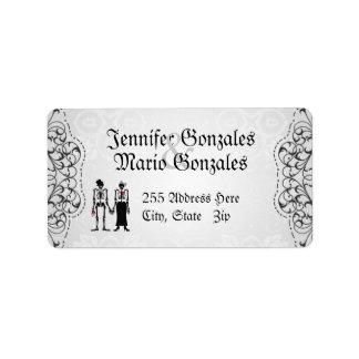 Vintage Flourishes & Skeletons Address Labels
