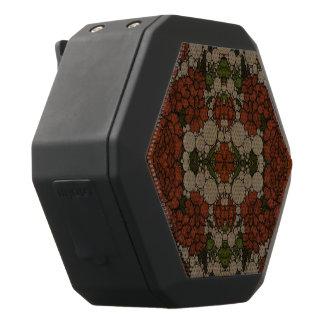 Vintage Flower Abstract Pattern Black Bluetooth Speaker
