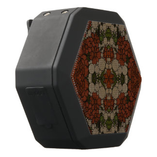 Vintage Flower Abstract Pattern Black Bluetooth Speaker
