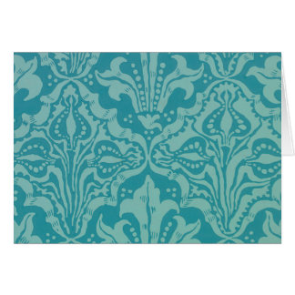 Vintage Flower and Seed Wallpaper Pattern Greeting Card