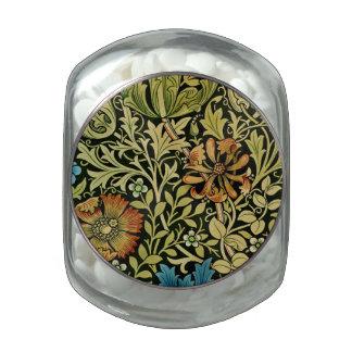 Vintage Flower and Vine Wallpaper Glass Jars