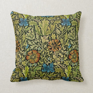 Vintage Flower and Vine Wallpaper Throw Pillow