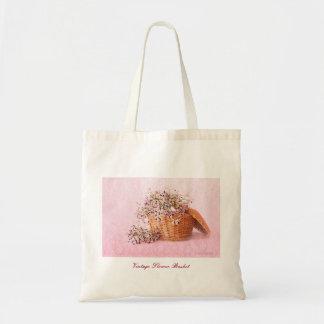 Vintage Flower Basket Bag