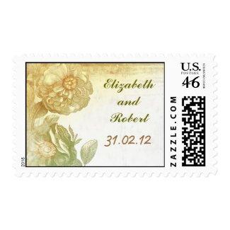 vintage flower blossoms postage stamp