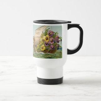 Vintage Flower Boat Travel Mug
