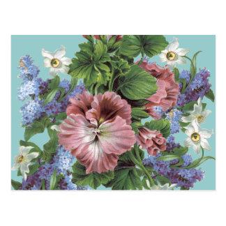 Vintage Flower Bouquet Post Cards
