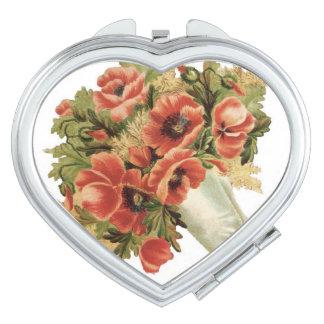 Vintage Flower Bouquet Vanity Mirror