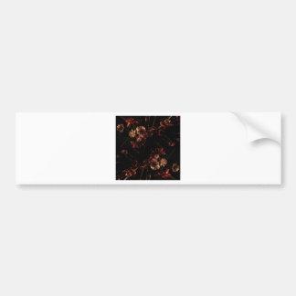 vintage flower bumper sticker