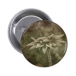 Vintage Flower 2 Inch Round Button