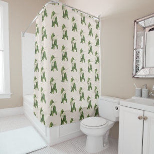 Vintage Flower Calla Lily Green Leaves Closeup Shower Curtain
