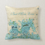 Vintage Flower Carriage - Best Mom Ever Pillow