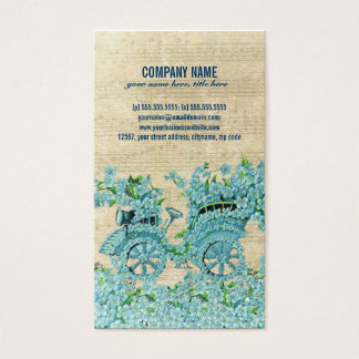 Vintage Flower Carriage Business Card