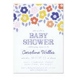 Vintage Flower Cascade Baby Shower Invitation