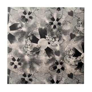 Vintage Flower Clowns Tile