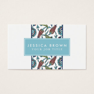 Vintage flower composition Business Card Template