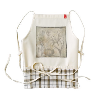 Vintage Flower Design Picture Zazzle HEART Apron
