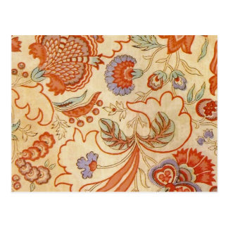 Vintage Flower Fabric Post Cards