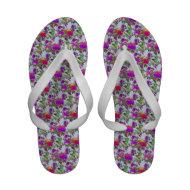 Vintage Flower Floral Print Sandals