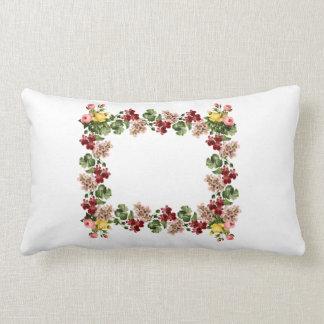 Vintage Flower Frame Travesseiro
