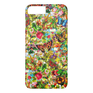 Vintage Flower Garden Colorful Butterfly Floral iPhone 7 Plus Case