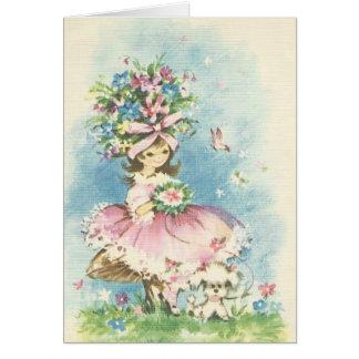 Vintage Flower Girl Card