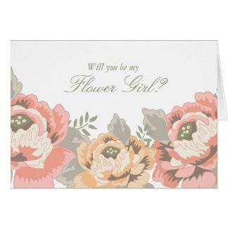Vintage Flower Girl Cards