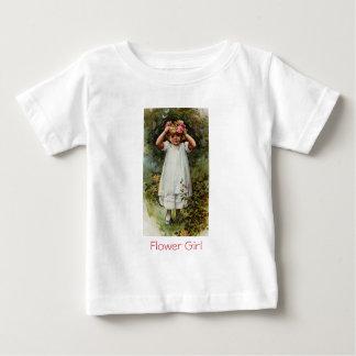 Vintage Flower Girl Wearing Wreath Baby T-Shirt