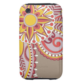 Vintage Flower III Tough iPhone 3 Cover